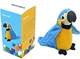 Vincilee Talking Parrot Repeats What You Say Talking Bird Plush Animal Toy Electronic Plush Parrot for Boy and Girl Gift,4.3 x 8.7 inches( Blue )