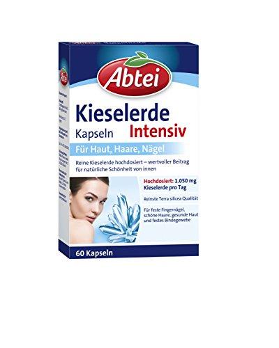 Abtei Kieselerde Intensiv Kapseln, 60 Stück, feste Nägel, schöne Haare, gesunde Haut und festes Bindegewebe, 1-er Pack (1 x 60 St.)