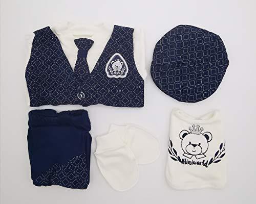 Juego de 5 piezas para recién nacido, de 0 a 3 meses, tamaño 62 Newborn Baby Set regalo para recién nacidos (azul)