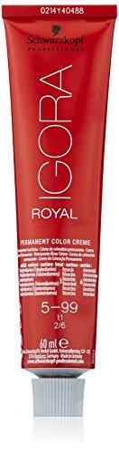 Schwarzkopf IGORA Royal Premium-Haarfarbe 5-99 hellbraun violett extra, 1er Pack (1 x 60 g)