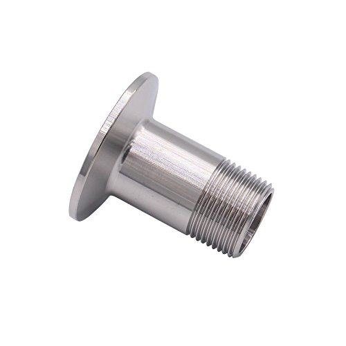 DERNORD Sanitary Male Threaded Pipe Fitting to TRI CLAMP (OD 50.5mm Ferrule) (Pipe Size: 3/4 NPT)