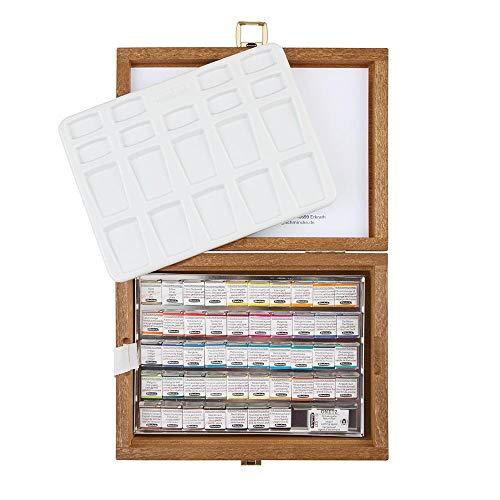 Schmincke : Horadam Watercolour : Wooden Box Set : 48 Half Pans