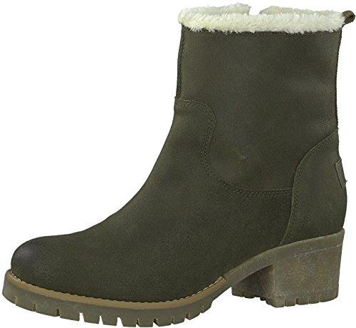 s.Oliver 5-5-26463-29 Modischer Damen Stiefel, Winterstiefel, warm gefüttert, 4cm Absatz, seitlicher Reißverschluss gelb (Corn), EU 40