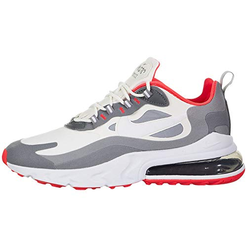 Nike Air MAX 270 React Hombre Running Trainers CT1264 Sneakers Zapatos (UK 8.5 US 9.5 EU 43, Summit White Smoke Grey 100)
