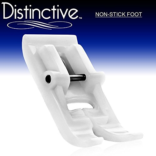 Distinctive Non-Stick Sewing Machine Presser Foot - Fits All Low Shank Snap-On Singer, Brother, Babylock, Euro-Pro, Janome, Kenmore, White, Juki, New Home, Simplicity, Elna and More!