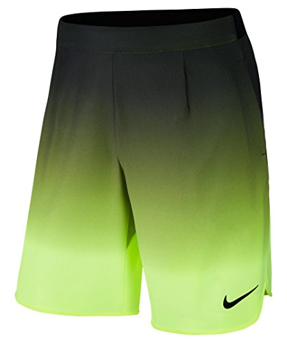 Nike M Ace 9in Premier–Pantaloncini per Uomo, Uomo, M Ace 9In Premier, Nero (Nero/Volt/Nero), S