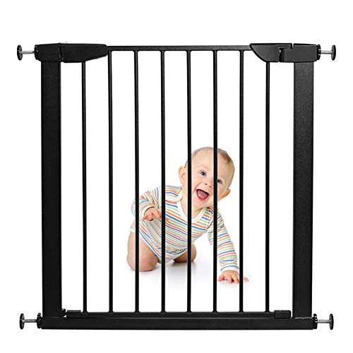 Review Of MSCHEN Dog Gates for The House Extra Wide Black, Baby Gate Extra Wide, Pet Gate with Door ...