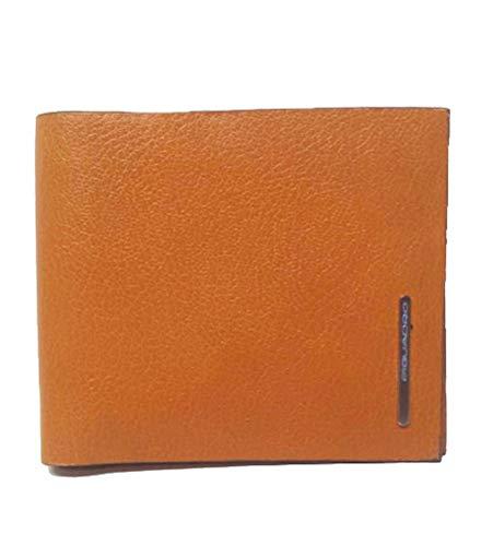Piquadro O2 Portafoglio uomo con 8 porta carte di credito, Arancione - PU1307O2/AR