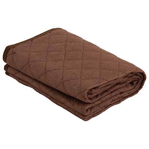 EiYU 敷きパッド シングル 防水仕様 丸洗いできる ブラウン
