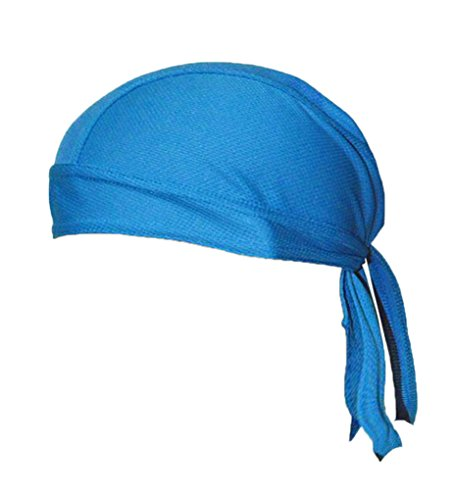 bao Core multifunción Ciclismo bandana gorro bufanda secado rápido transpirable Sun Protección UV Sweatband Head para Running Ciclismo Máscara pirata Caps, azul