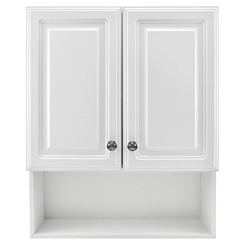 Glacier Bay 23-1/8 in. W x 27-7/8 in. H Framed Surface-Mount Bathroom Medicine Cabinet in White