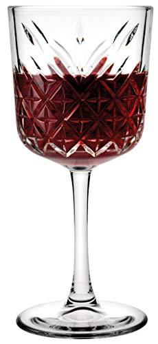 Pasabahce 440276 Timeless Rotweinkelch, Rotweinglas 330 ml, transparent, 12 Stück