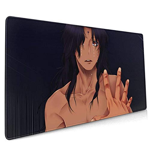 D. Gray-Man Office,Study,Desk Mat,Shopping,Gaming Mouse Pad,Stitched Edges,Oversized Non-Slip Rubber,Extended Game Racing Mouse Pad 40 X 90 cm (15.8x35.5 Inches)