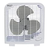 8 box fan - Comfort Zone CZ9BWT Portable 9-inch 2-Speed Quiet Box Fan for Home