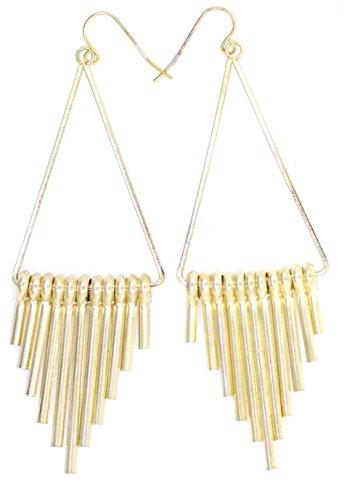lizzyoftheflowers. 8cm ägyptischen Stil Gold Farbige Kronleuchter baumeln Ohrring