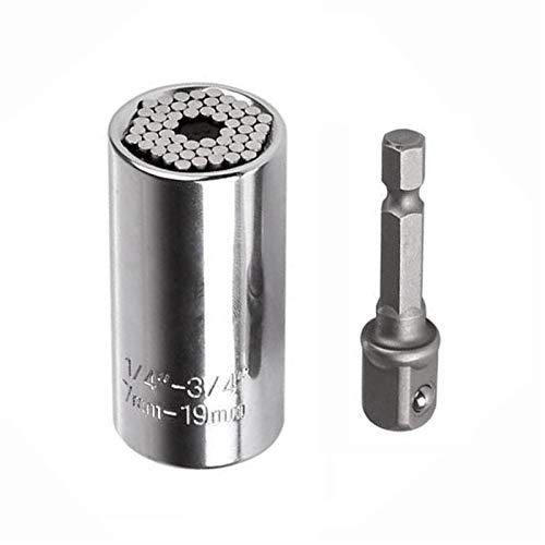 Llave combinada estándar, Universal llave de tubo, Power Grip taladro de buje Herramientas manuales Kit 7-19mm (Size : Set2)
