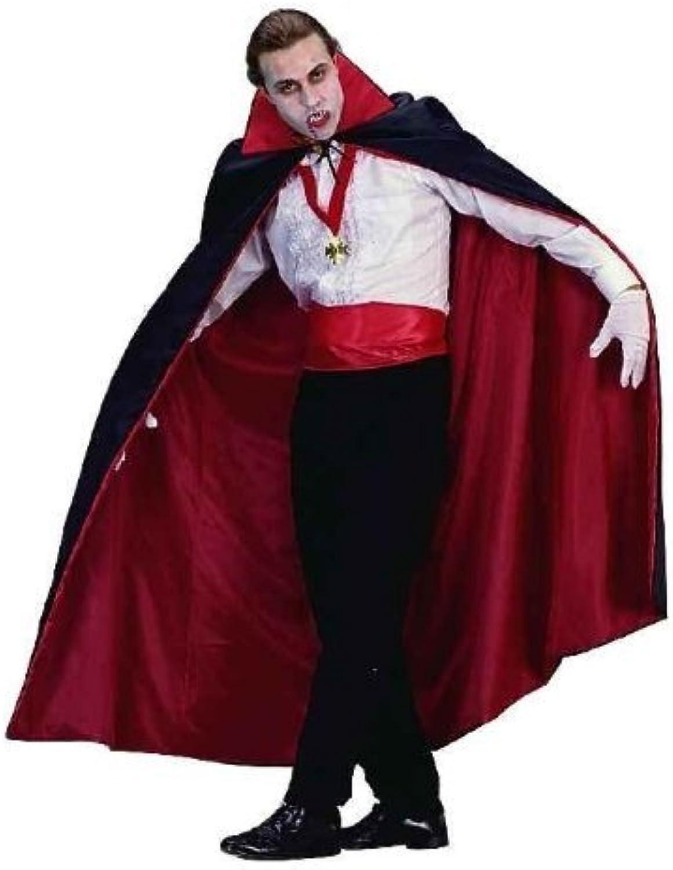 RG Costumes Reversible Taffeta Cape, 56, Red Black by RG Costumes