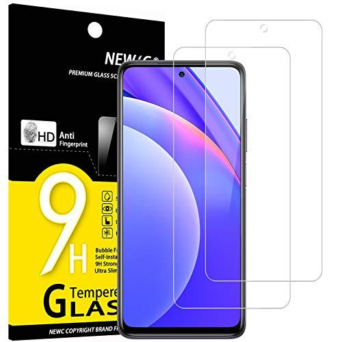 NEW'C 2 Unidades, Protector de Pantalla para Xiaomi Mi 10T Lite 5G, Antiarañazos, Antihuellas, Sin Burbujas, Dureza 9H, 0.33 mm Ultra Transparente, Vidrio Templado Ultra Resistente