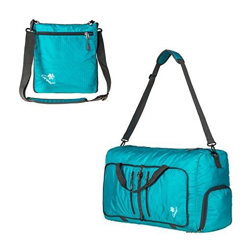 Coreal Damen und Herren Sporttasche Faltbare Reisetasche 60L Cyan