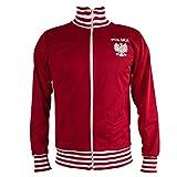 JL Sport Polen/Polska Jacke Retro Fußball Anzug mit Reißverschluss Jacke - XL