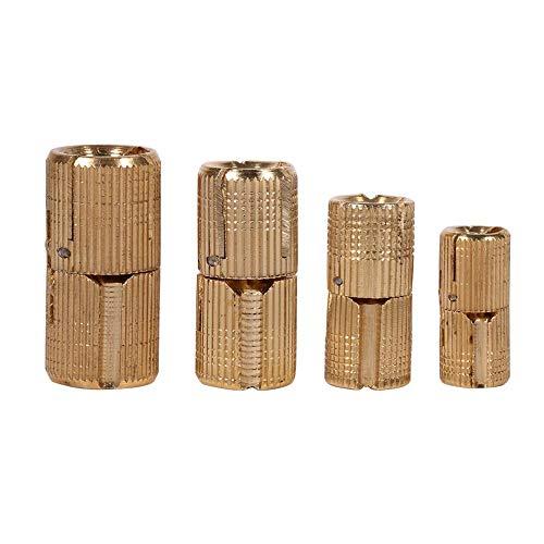 4pcs / pack Bisagras barril diámetro Puerta de gabinete cobre Bisagras cilíndricas de latón ocultas Armario oculto Muebles y caja de regalo Instalación para encimeras Proyecto de bricolaje 10(2#)