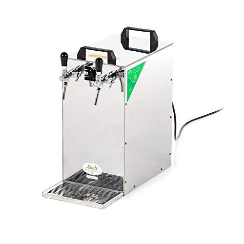 Green Line - Dispensador de bebidas (contacto 155/K, 2 vías, acero inoxidable, 180 litros/h, con bomba de membrana, manguera de cerveza)