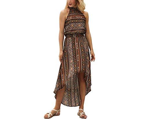 T-shirt Sommer Frauenkleidung Kleiden,Retro Rock Kleider Drucken Irregulär Kleider Gemütlich ZNZ/B/S