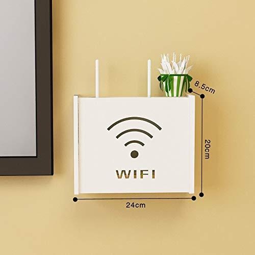 YQWFF Wireless WiFi Router Box PVC Wall Mounted Shelf Plug Board Bracket Storage Box Europe Style Storage Boxes Bins for Living Room