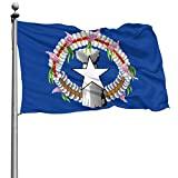 PZJ Northern Mariana Islands Flag 4x6 Feet Flag Polyester Double Stitched with Brass Grommets 4 X 6 Flag for Outdoor Indoor Home Decor