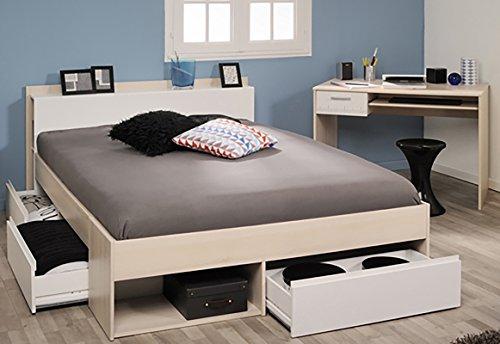 Parisot Schlafzimmer-Set Most und Charly Akazie-Weiß