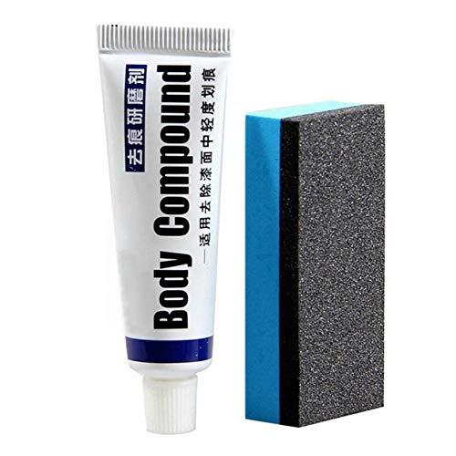 MXECO Auto-Kratzer-Reparatur-Kit Auto Body Compound Polierschleifpaste Lackpflege Set Zubehör für Auto-Wachs (White & Blue)