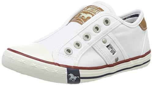 MUSTANG Unisex-Kinder 5803-405-1 Slip On Sneaker, Weiß (Weiß 1), 36 EU
