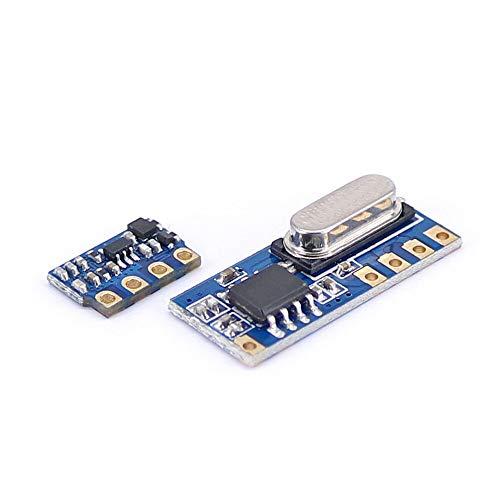 Elektronisches Modul 433MHz Wireless Transceiver Kit Mini HF-Sender-Empfänger-Modul + 20PCS Feder Antennen OPEN-SMART for A-r-d-u-i-n-o - Produkte, die mit offizieller Arbeit for 10pcs A-r-d-u-i-n-o-B