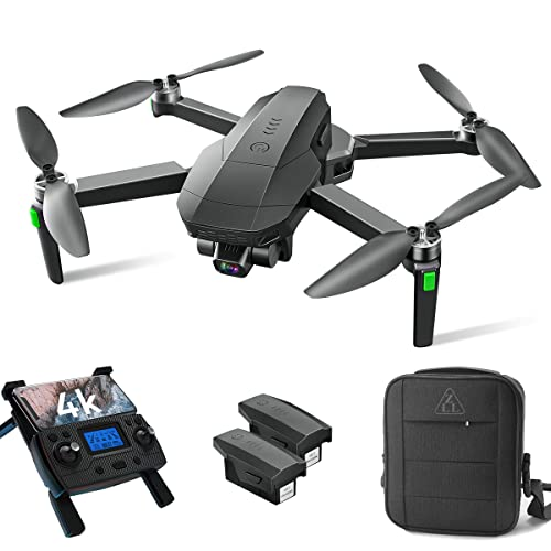 Drones with Camera for Adults 4K, LARVENDER SG907 GPS Drone with 3-Axis Gimbal Camera, Long Range Professional Drones for Beginners 5G FPV Transmission,2 Batteries 50Mins Flight Time Auto Return Home
