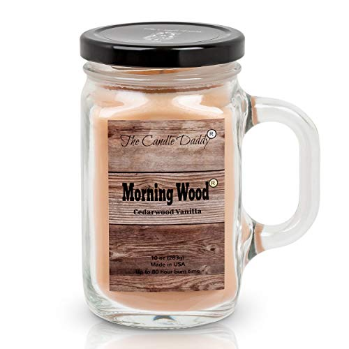 The Candle Daddy Morning Wood Cedarwood Vanilla Candle - Funny Candle Makes...