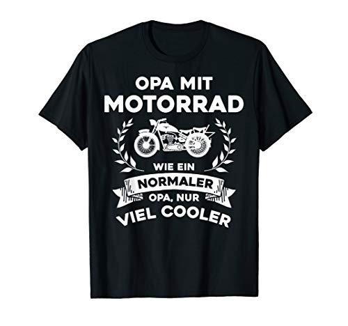 Herren Opa mit Motorrad - nur cooler - lustig Biker Hobby Geschenk T-Shirt