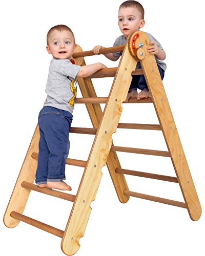 Pikler Triangle Ladder - Kids Climber - Toddler Gym Indoor Playground - Climbing Toys for Toddlers 1 3 5 y.o