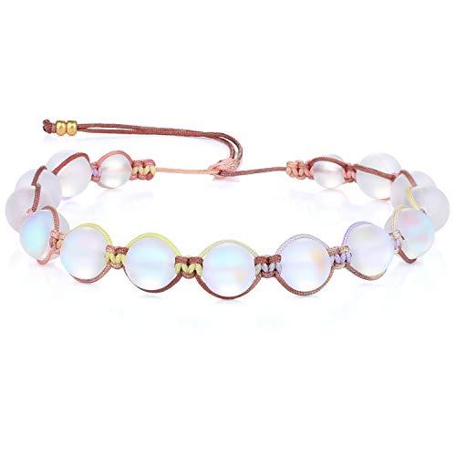 KANYEE Bracelets De Perles Lune Bracelet Rang Coloré Bracelets De Corde Faits à La Main pour Femmes – 23I