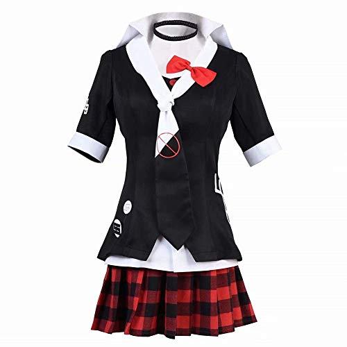 Frauen/Mädchen Halloween/Weihnachten Junko Enoshima Cosplay Kostüm Thema Party Uniform Kleid Freizeitjacke Mantel Spiel Anime Krawatte Top Rock Student Uniform