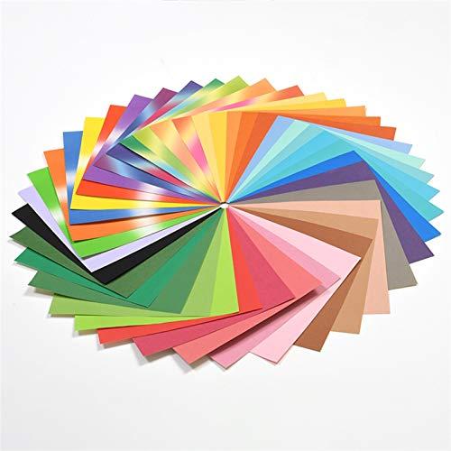 50 piezas de papel cuadrado para origami, papel plegable mulitcolor, para niños, educación temprana, juguete de bricolaje hecho a mano, scrapbooking, decoración (color: 01)