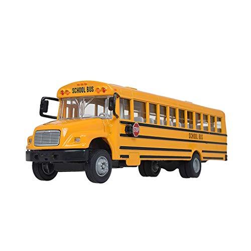 XHAEJ Modelo de automóvil Modelo de Coche de Juguete para niños Modelo de Auto de aleación de autobuses (Color : Yellow)