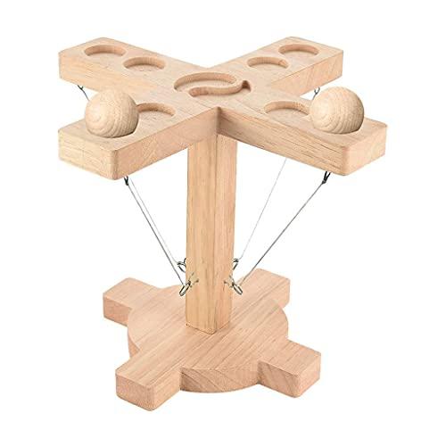 EATAN Ring Toss Games para niños adultos, Juegos de mesa de mano con paquete de escalera de tiro, ganchos de madera hechos a mano para interiores al aire libre