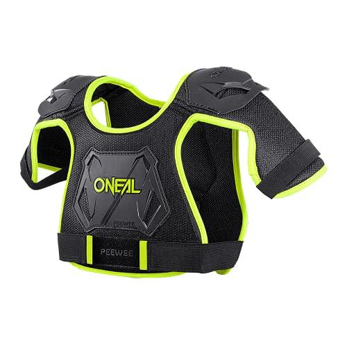 O'NEAL | Brustprotektor | Kinder | Motocross Enduro | Einfach verstellbar, Injizierte Plastikform für gesteigerten Schutz, Alter von 4-9 Jahren | Pee Wee Chest Guard | Schwarz Neon-Gelb | Größe M/L