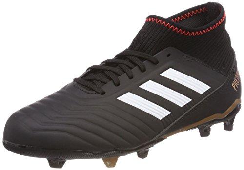 adidas Predator 18.3 Fg, Unisex Kid's Footbal Shoes, Black (Cblack/Ftwwht/Solred Cblack/Ftwwht/Solred), 10k UK (28 EU)