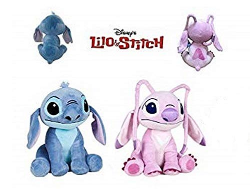 Lilo&Stitch - Pack 2 Peluches Stitch y Angel (Stitch Rosa) 11'41