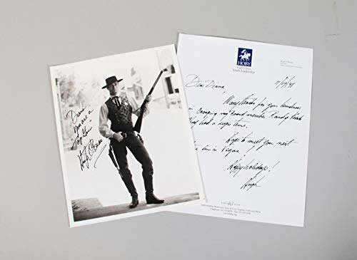 Hugh O'Brian Signed Photo w/Handwritten Letter - COA JSA