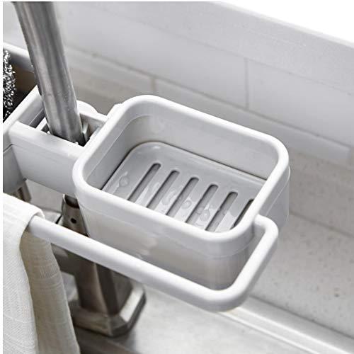 TOSSPER Organizador sostenedor de la Esponja de Cocina Grifo del Clip de Almacenamiento en Rack de Trapo líquido Escurridor Fregadero Ajustable Colgando de jabón...