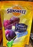 Sunsweet Whole Pitted Prunes, 10 oz, (2 Bags)