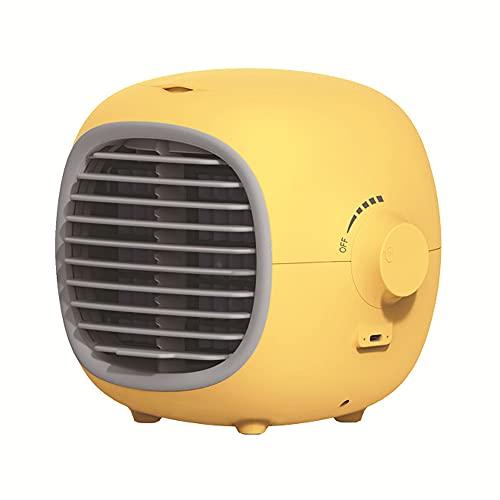 XTENG Klimaanlagen-Lüfter, Mobiler Luftbefeuchter, Wiederaufladbarer Mini-Stumm-Ladeklimaanlage, Geeignet Für Zuhause, Büro, Schlafzimmer, Gelb