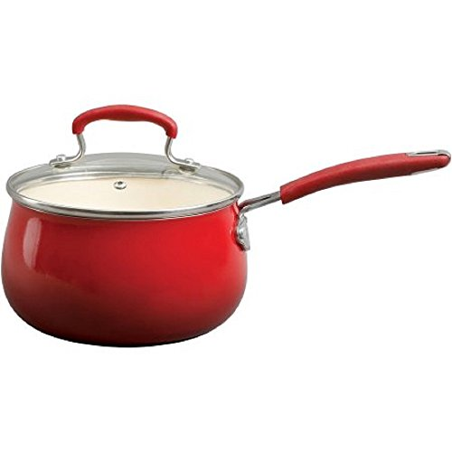Pioneer Woman Classic Belly 10-Piece Cookware Set, RED